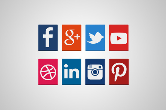 rectangular social media icons