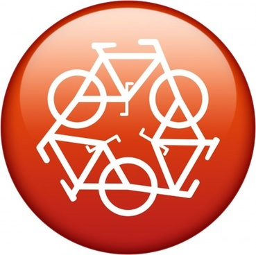 recycle symbol red