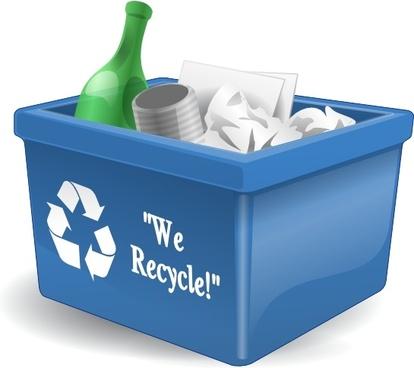Recycling Box 3d clip art