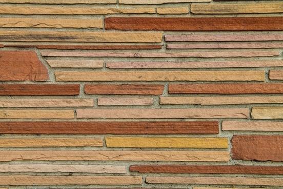 red 038 tan sandstone brick wall pattern