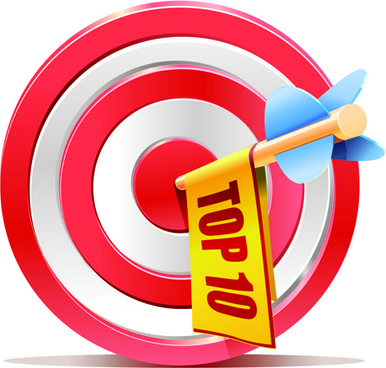 red aim target sales elements vector