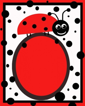 red amp black ladybug invitation