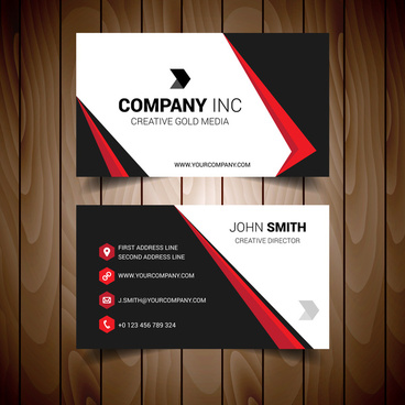 Black and red business card free vector download 33494 free vector red and black bordered business card reheart Image collections