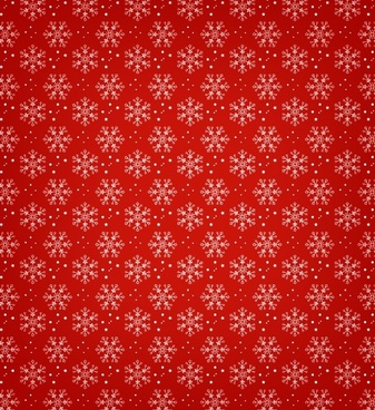 red and green snowflake vector pattern