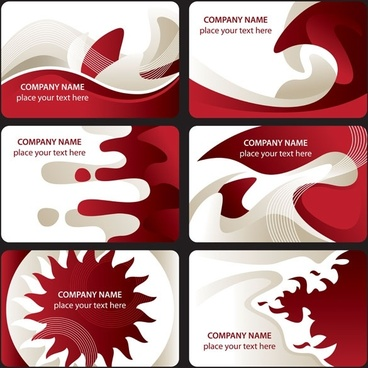 red and white card background vector
