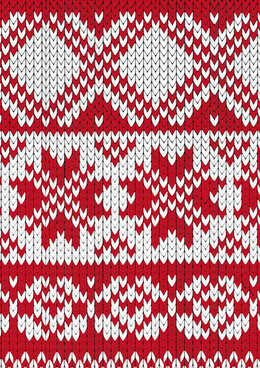 red and white fabric pattern vector