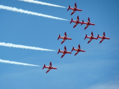 red arrows sky