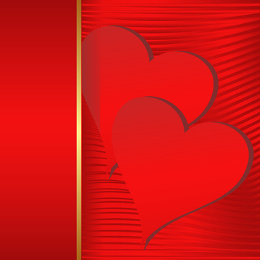 red background and red heart vector