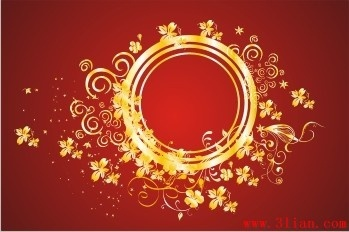 decorative background elegant classical design flower circle ornament