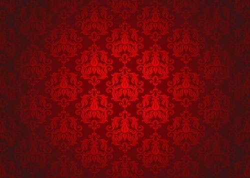 red background pattern vector 3