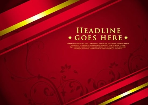 decorative background shiny luxury elegant red golden european