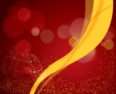 Red Background Vector Yellow Ribbon