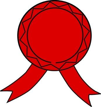 Red Badge clip art