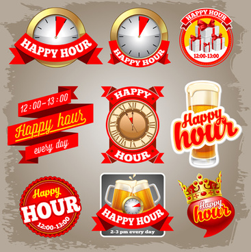 red beer labels vector