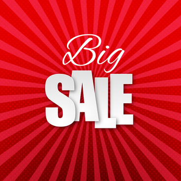 red big sale background