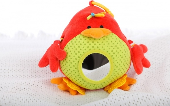 red bird toy