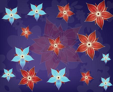 red blue flower
