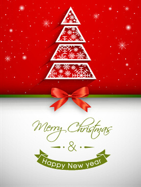 Free christmas greeting card template free vector download 28451 red bow christmas greeting card set m4hsunfo