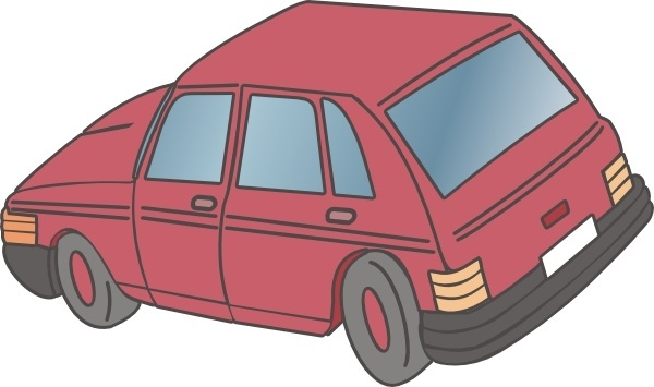 Red Car Hatchback clip art