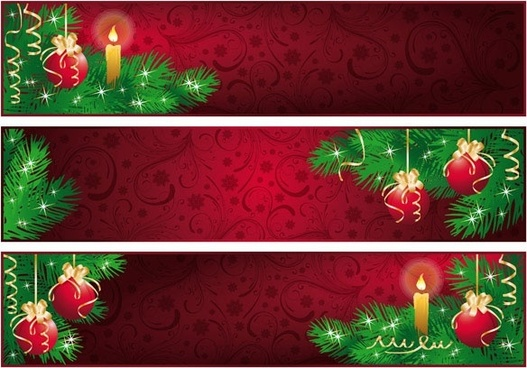 Red Christmas Banner Background Free Vector Download 61 829