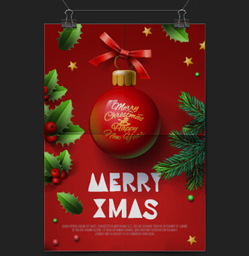 Christmas Flyer Template Coreldraw Free Vector Download 23317 Free