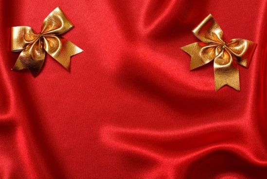 red cloth with gold bow definition picture
