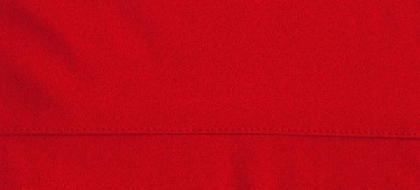 red cloth with seam
