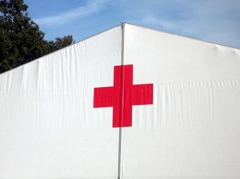 red cross tent