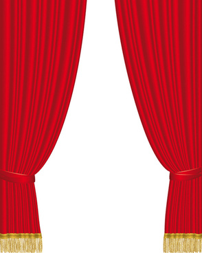 red curtain for backstage design vector