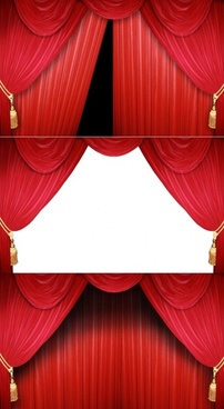 red curtain hd picture