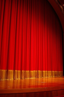 red curtain picture 3