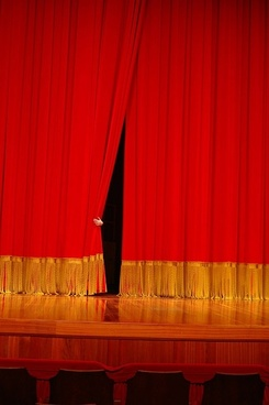 red curtain picture 5