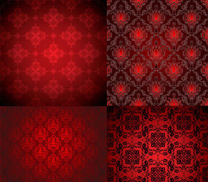 red decorative pattern background vector