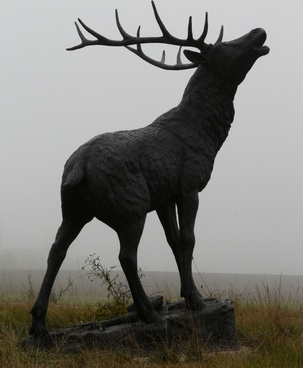red deer bronze statue hirsch