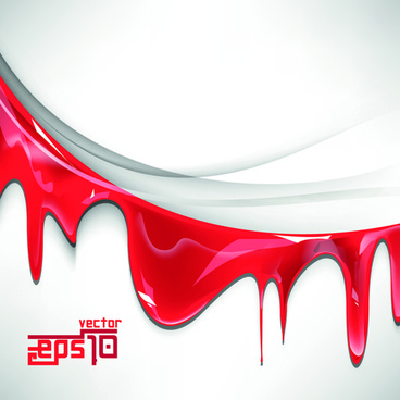 Red drip effect vector background