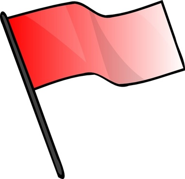 Red Flag clip art