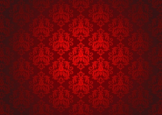 monochrome pattern elegant repeating symmetric classic dark red