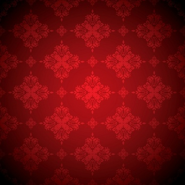 decorative pattern red repeating symmetric shapes classic design