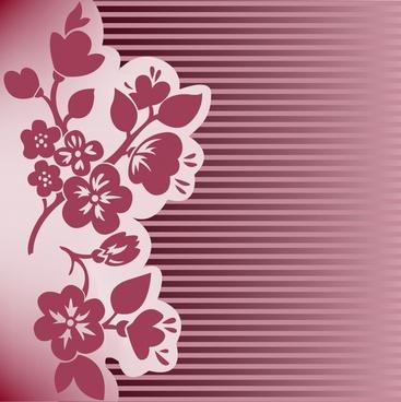 card background classical floral paper cut design