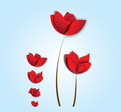 red floral with blue back ground