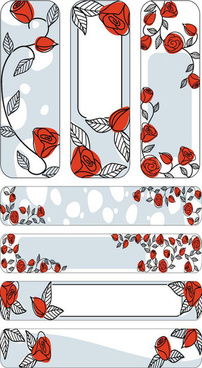 red flower decoration backgrounds art vector