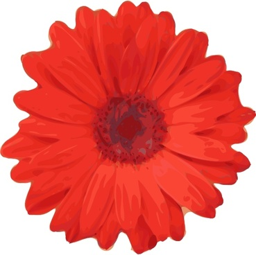 Red Flower Pedals clip art