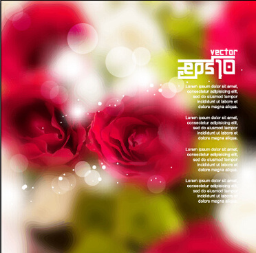 red flowers with blurred background vector