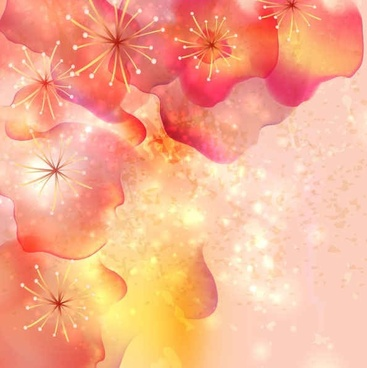 Red Flowers with Pink Background