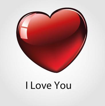 red glass texture heart vector