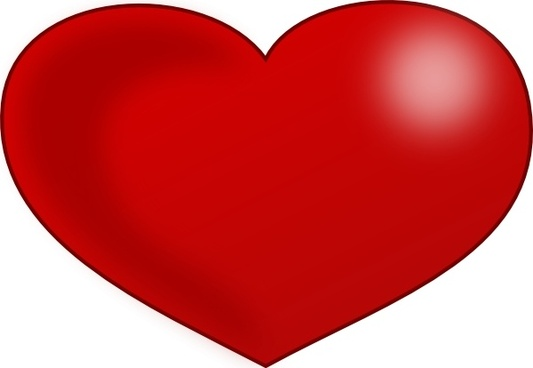 Red Glossy Valentine Heart clip art