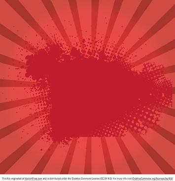 red grunge sunburst vector
