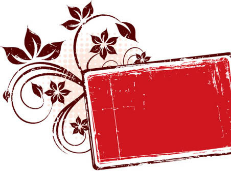 red grungy frame vector graphic