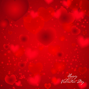 red heart happy valentine day background