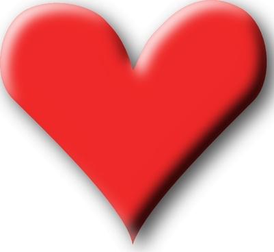 Red Heart Valentine clip art